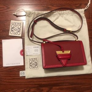 Loewe red Barcelona leather shoulder bag